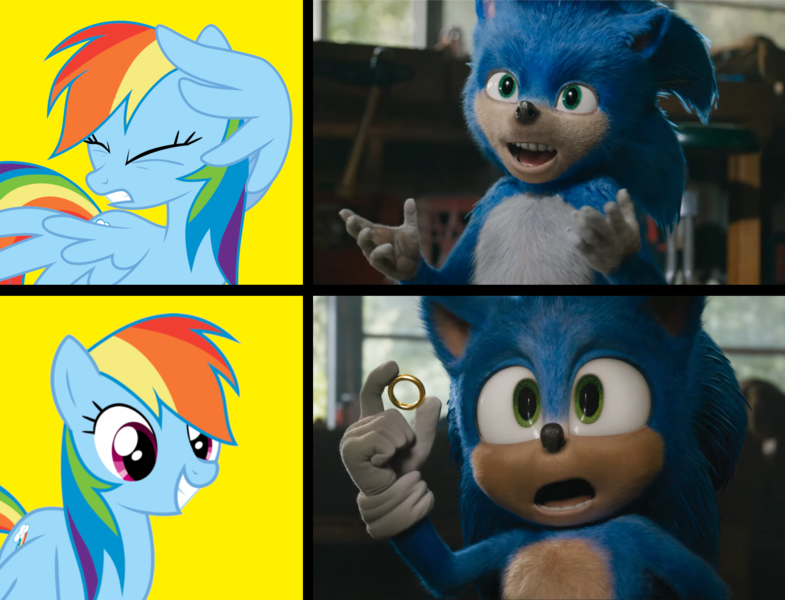 2030262 Safe Edit Edited Screencap Editor Wild Stallions Screencap Maud Pie Sunset Shimmer Equestria Girls Rainbow Rocks Crossover Faic Nightmare Fuel Scared Sonic Drama Sonic Movie 2020 Sonic The Hedgehog Sonic The