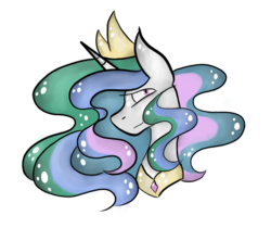 Size: 600x503 | Tagged: alicorn, artist:hunterthewastelander, bust, crown, female, jewelry, mare, peytral, pony, princess celestia, regalia, safe, simple background, solo, transparent background