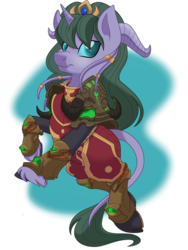Size: 774x1032   Tagged: safe, artist:itstaylor-made, draenei, pony, ponified, warcraft, world of warcraft