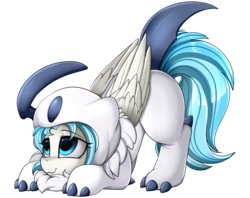 Size: 3030x2400 | Tagged: safe, artist:pridark, oc, oc only, oc:lesa castle, absol, pony, adorable face, clothes, commission, costume, crossover, cute, daaaaaaaaaaaw, high res, nintendo, ocbetes, pokémon, simple background, solo, transparent background