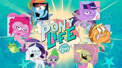 Size: 1270x710 | Tagged: safe, artist:hotdiggedydemon, edit, applejack, fluttershy, gummy, pinkie pie, rainbow dash, rarity, spike, twilight sparkle, alicorn, alligator, dragon, earth pony, pegasus, pony, unicorn, .mov, my little pony: pony life, jappleack, logo, meme, op is a duck, twilight sparkle (alicorn)