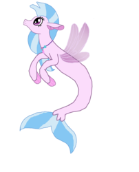 Size: 6184x7656 | Tagged: safe, artist:mr100dragon100, silverstream, seapony (g4), digital art, female, jewelry, looking up, necklace, seapony silverstream, simple background, solo, transparent background