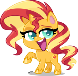 Size: 5000x4870 | Tagged: absurd resolution, artist:orin331, cute, digital art, female, g4.5, mare, my little pony: pony life, pony, safe, shimmerbetes, smiling, solo, sunset shimmer, that was fast, unicorn