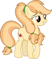 Size: 6335x7106 | Tagged: absurd resolution, artist:cloudyglow, artist:digimonlover101, base used, crossed hooves, cutie mark, earth pony, female, next generation, oc, oc:southern belle, offspring, parent:applejack, parent:rockhoof, parents:rockjack, pony, safe, simple background, smiling, solo, transparent background