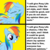 Size: 1024x1024 | Tagged: covering, drake, eyes closed, female, gritted teeth, hotline bling, mare, meme, my little pony: pony life, op has a point, opinion, pegasus, pony, rainbow dash, safe, smiling, solo, text, wing covering