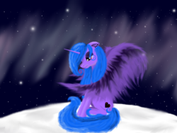 Size: 1600x1200 | Tagged: alicorn, alicorn oc, artist:auroraswirls, crying, female, mare, milky way, night, oc, oc:aurora swirls, oc only, pony, sad, safe, sitting, solo, stars