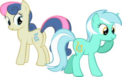 Size: 1838x1153 | Tagged: artist:oceanbreezebrony, bon bon, eyes on the prize, female, lesbian, lyrabon, lyra heartstrings, pony, safe, shipping, simple background, sweetie drops, transparent background, vector