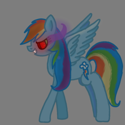 Size: 768x768 | Tagged: artist:rainbow dash is best pony, corrupted, corrupted rainbow dash, evil, pegasus, pony, rainbow dash, safe, simple background, sombra eyes, spread wings, transparent background, wings