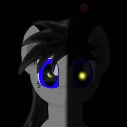 Size: 2246x2246 | Tagged: antenna, artist:wvdr220dr, cga, earth pony, female, imfomaz os, intro, lights, music, oc, pony, robot, robot pony, safe, software