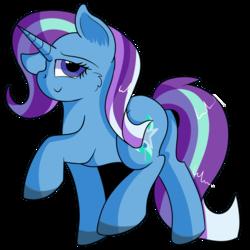 Size: 894x894 | Tagged: safe, artist:rainbowtashie, starlight glimmer, trixie, oc, pony, unicorn, commissioner:bigonionbean, cute, cutie mark, flank, fusion