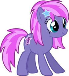 Size: 361x400 | Tagged: safe, starsong, earth pony, pony, g3, g4, barrette, female, g3 to g4, generation leap, mare, punk, race swap, redesign, simple background, solo, stars, white background