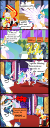 Size: 2082x5254 | Tagged: ..., alicorn, artist:avchonline, assassin, clothes, colt, comic, dialogue, eyes closed, female, flying, hoof hold, male, mare, oc, oc:sean, pegasus, pony, princess celestia, royal guard, safe, shining armor, sign, stallion, sweat, unicorn, unshorn fetlocks
