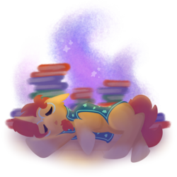 Size: 2000x2000 | Tagged: safe, artist:antimationyt, sunburst, pony, unicorn, book, cute, eyes closed, lighting, male, painting, shading, simple background, sleeping, solo, stallion, sunbetes, transparent background