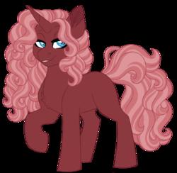 Size: 905x883 | Tagged: safe, artist:azure-art-wave, oc, oc:rouge, pony, unicorn, female, magical lesbian spawn, mare, offspring, parent:sunset shimmer, parent:trixie, parents:suntrix, simple background, solo, transparent background