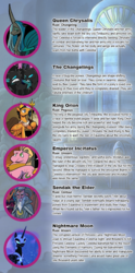 Size: 540x1090 | Tagged: artist:wolfnanaki, changeling, emperor incitatus, king orion, nightmare moon, queen chrysalis, safe, sendak the elder