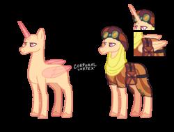 Size: 1550x1177 | Tagged: safe, artist:corporalvortex, alicorn, earth pony, pony, saddle arabian, unicorn, base, clothes, goggles, headscarf, lidded eyes, male, saddle bag, scarf, simple background, solo, stallion, transparent background