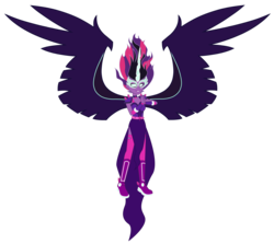 Size: 7015x6263 | Tagged: adult, alternate timeline, alternate universe, artist:lhenao, equestria girls, friendship games, headcanon in the description, midnight sparkle, older, older sci-twi, older twilight, safe, sci-twi, solo, twilight sparkle