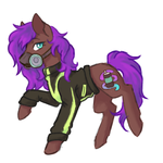 Size: 1200x1200   Tagged: safe, artist:flaming-trash-can, oc, earth pony, pony, clothes, sketch, solo