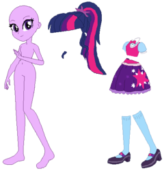 Size: 474x494 | Tagged: safe, artist:cathylility, artist:ra1nb0wk1tty, artist:selenaede, sci-twi, twilight sparkle, human, equestria girls, base, clothes, eqg promo pose set, shoes