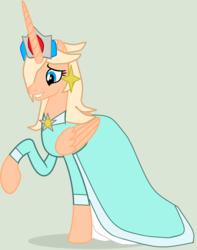 Size: 1224x1552 | Tagged: safe, artist:elementbases, artist:twidashfan1234, alicorn, pony, base used, clothes, crossover, crown, dress, ear piercing, earring, gown, jewelry, nintendo, piercing, princess rosalina, regalia, rosalina, super mario bros., super mario galaxy