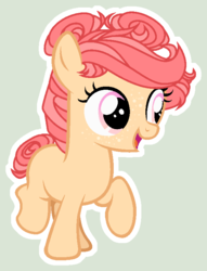 Size: 583x764 | Tagged: safe, artist:starling-sentry-yt, oc, earth pony, pony, base used, female, filly, offspring, parent:apple bloom, parent:tender taps, parents:tenderbloom, simple background, solo, white outline