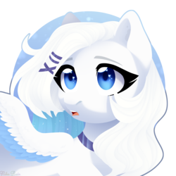 Size: 2500x2500 | Tagged: artist:nika-rain, bust, commission, oc, pegasus, pony, portrait, safe, simple background, solo