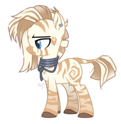 Size: 1280x1308 | Tagged: safe, artist:mintoria, oc, oc only, oc:akida, hybrid, pony, zebra, zebroid, zony, ear piercing, earring, female, jewelry, mare, piercing, simple background, solo, transparent background