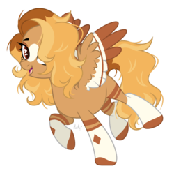 Size: 1280x1255 | Tagged: artist:mintoria, female, mare, oc, oc:honeysuckle, pegasus, pony, safe, simple background, solo, transparent background