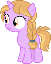 Size: 5000x6260 | Tagged: amber locks, artist:sollace, female, filly, molt down, pony, safe, simple background, solo, standing, .svg available, transparent background, unicorn, vector