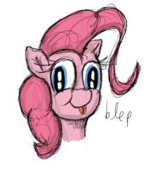 Size: 1048x1200 | Tagged: artist:fetishsketches, bust, cute, derp, diapinkes, female, :p, pinkie pie, ponk, pony, portrait, safe, silly, simple background, solo, tongue out, white background