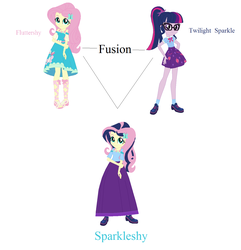 Size: 1276x1325 | Tagged: safe, artist:starman1999, fluttershy, sci-twi, twilight sparkle, equestria girls, base used, clothes, fusion, long skirt, skirt