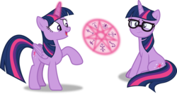 Size: 3342x1791 | Tagged: alicorn, artist:frownfactory, equestria girls, equestria girls ponified, excited, female, glasses, heptagram, horn, magic, magic symbols, mare, raised hoof, safe, sci-twi, simple background, sitting, svg, .svg available, transparent background, twilight sparkle, twilight sparkle (alicorn), twolight, unicorn, unicorn sci-twi, vector, wings, worried