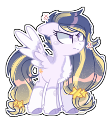 Size: 1124x1276 | Tagged: safe, artist:corporalvortex, artist:nocturnal-moonlight, oc, oc only, oc:starry skies, pegasus, pony, chest fluff, cloven hooves, coat markings, colored wings, ear fluff, female, gradient mane, mare, messy mane, offspring, parent:flash sentry, parent:twilight sparkle, parents:flashlight, simple background, socks (coat marking), solo, transparent background, unamused, wings