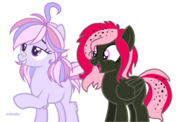 Size: 1002x697 | Tagged: artist:shady-bush, artist:tunchawk, base used, earth pony, female, mare, oc, oc only, oc:strawberry soda, pegasus, pony, safe, simple background, transparent background