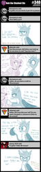 Size: 800x3329 | Tagged: safe, artist:sintakhra, gallus, silverstream, classical hippogriff, griffon, hippogriff, tumblr:studentsix, angry, cute, fourth wall, implied ocellus, implied sandbar, implied smolder, implied yona, looking at you, meme, offscreen character, pushing, pushing away, rage face, shipping denied, shocked, stair keychain