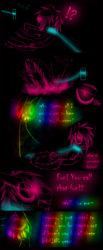 Size: 1200x2900 | Tagged: artist:didun850, collar, comic, comic:ask chase the pony, dialogue, earth pony, exclamation point, glowing eyes, interrobang, leash, lineart, male, oc, oc:chase, oc only, pony, question mark, safe, shadow pony, stallion