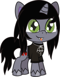 Size: 527x673   Tagged: safe, artist:lightningbolt, derpibooru exclusive, pony, unicorn, my little pony: pony life, .svg available, clothes, colored pupils, disguise, disguised siren, fangs, happy, horn, jewelry, kellin quinn, male, necklace, ponified, shirt, simple background, sleeping with sirens, slit pupils, smiling, solo, stallion, svg, t-shirt, tongue out, transparent background, unshorn fetlocks, vacant expression, vector