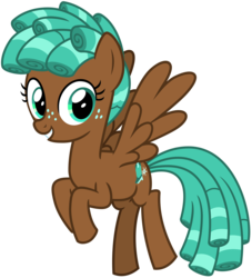 Size: 2900x3200 | Tagged: safe, alternate version, artist:cheezedoodle96, spur, pegasus, pony, growing up is hard to do, spoiler:s09e22, .svg available, curly hair, female, filly, flying, freckles, looking at you, missing accessory, simple background, smiling, solo, spread wings, svg, teenager, transparent background, vector, wings