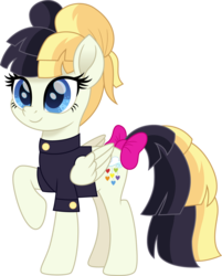 Size: 1203x1500 | Tagged: safe, artist:cloudyglow, songbird serenade, pegasus, pony, my little pony: the movie, alternate hairstyle, bow, clothes, female, mare, older, ribbon, simple background, solo, tail bow, transparent background