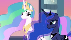 Size: 1920x1080 | Tagged: safe, screencap, princess celestia, princess luna, pony, the last problem, royal sisters