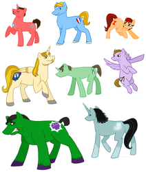 Size: 1221x1440 | Tagged: safe, artist:arcticwaters, pony, avengers, black widow (marvel), bruce banner, captain america, hawkeye, iron man, loki, ponified, the incredible hulk, thor