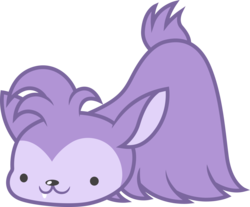 Size: 3631x3000 | Tagged: safe, artist:cloudyglow, bloofy, pony, whirling mungtooth, growing up is hard to do, .ai available, creature, cute, high res, male, simple background, smiling, sniffing, solo, transparent background, vector
