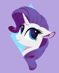 Size: 800x1000 | Tagged: safe, artist:lollipony, rarity, pony, unicorn, abstract background, cute, daaaaaaaaaaaw, ear fluff, female, happy, lineless, mare, raribetes, simple background, solo, vector