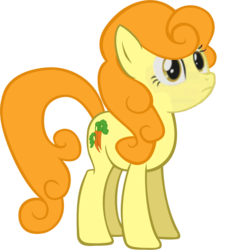 Size: 1070x1151 | Tagged: artist:siivabunner, carrot top, earth pony, edit, friendship is witchcraft, golden harvest, high quality rip, pony, safe, simple background, solo, stare, transparent background, vector, vector edit