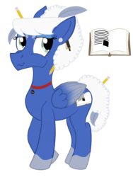 Size: 900x1200 | Tagged: artist:sixes&sevens, choker, ear piercing, earring, female, jewelry, lucretia, pegasus, pen, pencil, piercing, ponified, pony, quill, safe, simple background, socks (coat marking), spoilers for another series, the adventure zone, transparent background