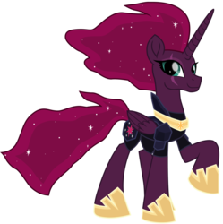 Size: 7560x7593 | Tagged: absurd resolution, alicorn, alicornified, armor, artist:ejlightning007arts, cute, ethereal mane, eye scar, female, implied tempestlight, pony, race swap, safe, scar, simple background, smiling, starry mane, tempest gets her horn back, tempest shadow, transparent background