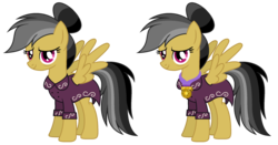 Size: 2412x1268 | Tagged: safe, artist:diamond-chiva, daring do, pegasus, pony, alternate hairstyle, clothes, dress, female, mare, older, simple background, solo, transparent background