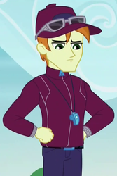 Size: 708x1060 | Tagged: coach rommel, cropped, equestria girls, friendship games, safe, screencap, solo