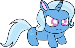 Size: 1738x1112 | Tagged: artist:mega-poneo, female, jewelpet, mare, mega poneo strikes again, pony, safe, simple background, smiling, solo, style emulation, transparent background, trixie, unicorn, vector