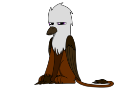 Size: 2160x1582 | Tagged: artist:somber, colored, fallout equestria, fallout equestria: longtalons, flat colors, griffon, oc, oc:kasimir longtalons, oc only, safe, solo